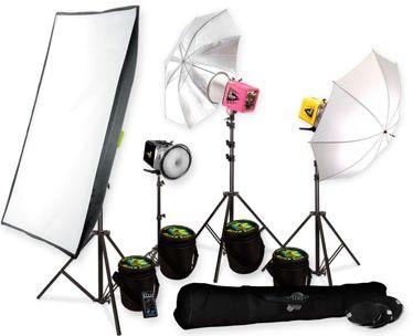 всей осветительные приборы для фотосъемки работника